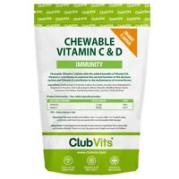 Vitamin C 500mg & Vitamin D3 25ug 365 Chewable Orange Tablets Immune Health