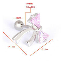 1pcs 16G CZ Ribbon Cartilage Tragus Body Jewellery Bar Ear Ring Piercing Stud