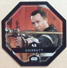 STAR WARS ROGUE ONE Jeton 45 CHIRRUT Cosmic Shells E.Leclerc DISNEY