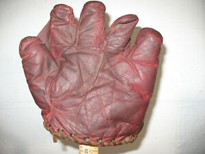 Vintage Reach split finger antique baseball glove mitt, Nice!