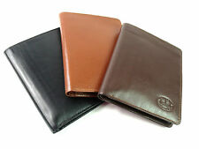 PREMIUM QUALITY LEATHER BOXED TRAVEL DOCUMENT PASSPORT/CREDIT CARD HOLDER WALLET