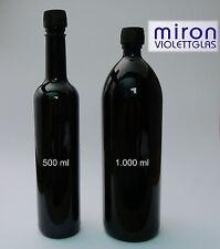 Miron Violettglas Mirongals Wasser- und Ölflaschen 500ml bis 1000 ml rund/eckig