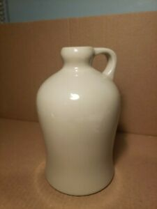 USA Made Ceramic Jug Taupe Color 7 1/4'' Tall
