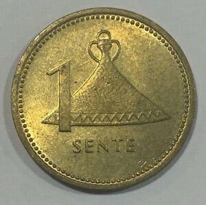 1979 Lesotho 1 Sente - Moshoeshoe II Coin