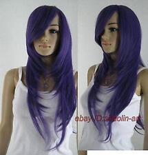 Saint Seiya Cosplay Athena ,violet long Raide fête plein cheveux perruques