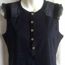 **46/L** Dolce & Gabbana Silk Cotton Blouse Shirt Sweater Top Tunic Tank ITALY