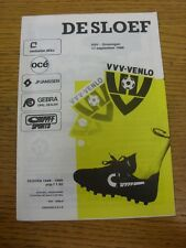 17/09/1988 VVV Venlo v Groningen  . Thanks for viewing our item, buy with confid