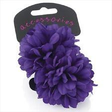 purple flower ponios pony tail eLASTIC WHITE HAIR PARTY PRETTY  HA28543