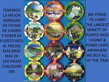 Set 6 NCV chips RINCON TROPICAL Private Casino Caribbean Poker Club PUERTO RICO