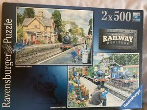 RAVENSBURGER NO.2 RAILWAY HERITAGE 2 X 500 PIECE JIGSAW COMPLETED ONCE FROM NEW