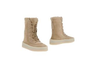YEEZY Beige Suede Season 2 Lace Up Boots Size 6.5 UK 39.5 EU, 8.5 US Kanye West
