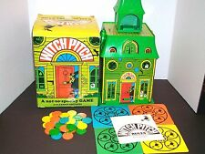 Vintage 1970's Parker Brothers Witch Pitch Haunted House Board Game 1970 w/Box!