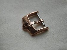 16MM OMEGA STAINLESS STEEL ROSE GOLD PLATED BUCKLE, WILL FIT 18MM STRAPS