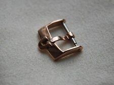 Omega 16 mm acciaio inox Rose Gold Plated Buckle, si adatta a cinghie 18 mm