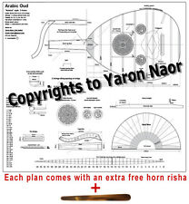 3 holes Arabic Oud plan! Nahhat style detailed for building 1:1 scale+free risha