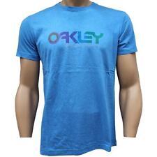 Oakley GEO RETRO T-Shirt Size M Medium Blue Ocean Marle Mens Logo Slim Fit Shirt