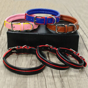Soft PU Leather Pet Dog Collars Adjustable for Small Medium Dogs XS-M Chihuahua