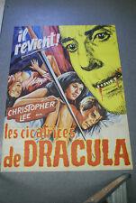 Affiche cinéma : LES CICATRICES DE DRACULA de ROY WARD BAKER - CHRISTOPHER LEE