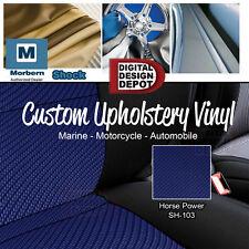 Shock Carbon Fiber Vinyl for Marine, Automotive Vehicle Upholstery BLUE