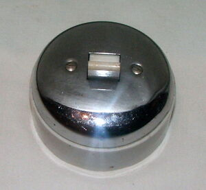 Vintage Ceramic & Chrome Light Switch Large industrial Loft