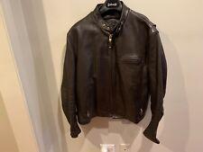 Schott NYC 141 Classic Racer Jacket Size 46 Brown