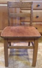 """Vintage 16"""" KIDS CHILD Solid Wood Wooden Library School Play Student Study Chair"""