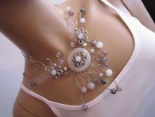 Damen Collier Hals Reif Hals Kette Modekette kurz Silber Achat Edelstein Blogger