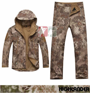 HIGHLANDER Softshell Sharkskin Fleece Jacket Pants TAD Kryptek Hunting Uniform