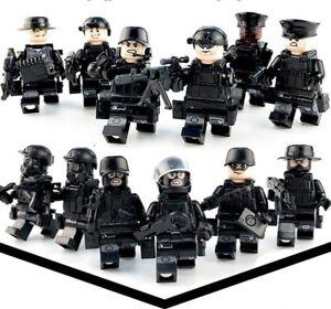 SWAT Team  12 Personen LEGO kompatibel mit Waffen und Ausrüstung