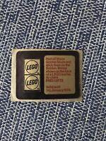 Vintage 1976 Rare Lego Golden Bricks Promotion Golden Studs 76 - Sheet of 2