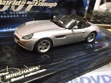 """BMW Z8 Z 8 Roadster 007 Bond """" Die Welt ist nicht genug """" Minichamps RARE 1:43"""