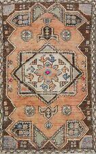 Vintage Geometric Anatolian Turkish Tribal Area Rug Handmade Oriental Carpet 3x6