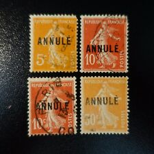 COURS D'INSTRUCTION N°158-CI 1 + N°138-CI 1 x2 + N°141-CI 1 OBLITÉRÉ COTE 187€