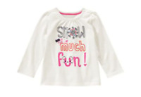 Gymboree Snow Much fun Tee Top 18-24 months NEW with tags