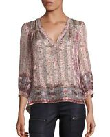 $298 NWT JOIE FRAZIER SILK BLOSSOM MULTICOLOR SHIRT SZ XS