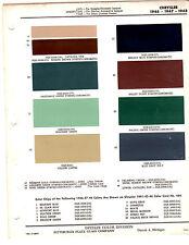 1946 1947 1948 CHRYSLER IMPERIAL NEW YORKER WINDSOR PAINT CHIPS 464748 DITZLER