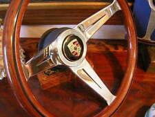 "Porsche 356 C Nardi Wood Steering Wheel Deep Dish 3"" Orig 356 Reuter Emblem NEW"