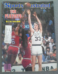 Sports Illustrated 4-28-80 Larry Bird & Dr. J Cover, Excellent - Mint Condition!