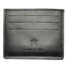 GIFTS FOR MEN Leather Mens Money Debit Credit Card Money Wallet Holder Black