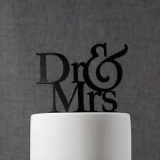 Dr and Mrs Wedding Cake Topper by Chicago Factory- (S067)