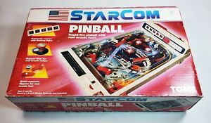 1987 TOMY STARCOM PINBALL MMACHINE GAME WITH BOX- CLEAN AND TESTED -WORKS