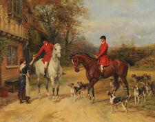 Hardy Heywood Fox Hunt Print 11 x 14  #3533