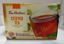 Tim Hortons Keurig Single Serve K Cups STEEPED TEA - Box of 12