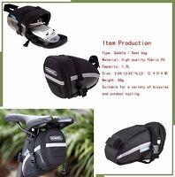 Bike Seat Saddle Wedge Pack Pannier Storage Bag Mountain Road MTB Tools Pocket