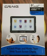 """Craig 4Gb Music and Movie Digital Media Player Cmp641F 4.3"""" Touch Screen"""