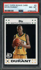 KEVIN DURANT 2007/08 TOPPS #2 PSA 8 NM-MT WHITE BORDER ROOKIE RC SS9927