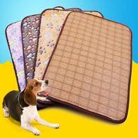 Soft Velvet Paw Print Cage Pad Bed Cushion Dog Cat Animal Pet Blanket Mat Nest