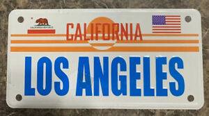 Los Angeles California Vanity License Plate Flags