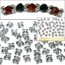 """925 Sterling Silver Pl 1/2"""" Bali Style Fancy 4-Prong Dot Filigree Bead Caps 50"""