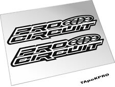 Pro circuit exhaust graphics glossy lamination stickers set